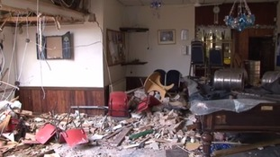 The inside of the club has been destroyed
