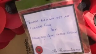 The message on the wreath