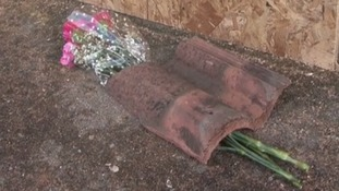 Flowers have also been left at the scene