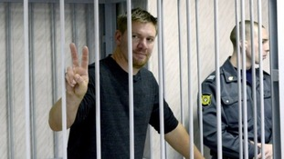 Anthony Perrett pictured during his time in custody