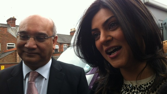MP Keith Vaz and Sushmita Sen