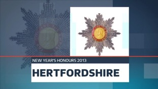 New Year Honours for people in Hertfordshire