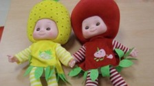 Some of the 'fruit-head' design of dolls