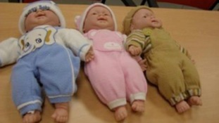 Some of the 'animal outfit' dolls