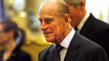 Prince Philip pictured wearing a suit in October.