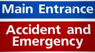 An A&E sign.