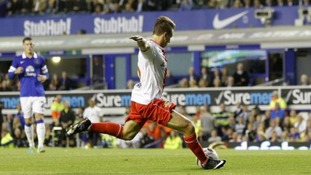 Freeman scores in a 2-1 defeat to Premier League Everton in the Capital One Cup earlier this season.