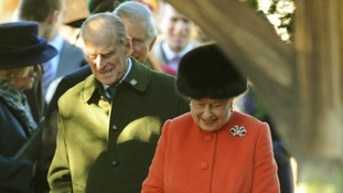 The Duke at Sandringham on Christmas Day.