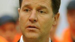 Lib Dem leader Nick Clegg.