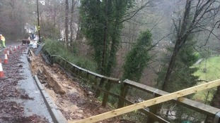 Homes evacuated after rain affects landslip site