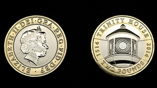 A new £2 coin features Trinity House.