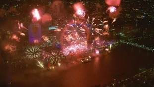 London rings in the New Year.