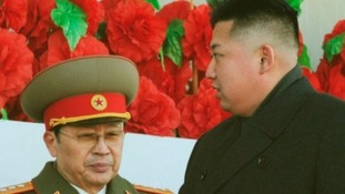 Kim Jong-un pictured with his uncle Jang Song-thaek in 2012.