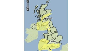 The Met Office's warnings map.