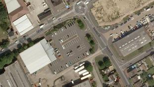 The Morrison's car park in Houghton Regis where Father Joseph Williams was found