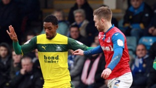 Jason Banton, seen here playing for Plymouth Argyle, has been recalled by Crystal Palace.