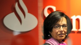 Santander's UK Chief Executive Ana Patricia Botin. The bank have been quick to reassure UK investors.