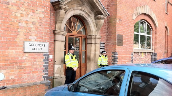 The inquest was opened and adjourned at Derby Coroners Court