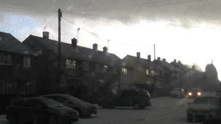 The storm hits Melbourn in South Cambridgeshire.