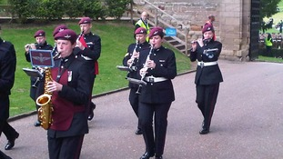 Band of the Royal Marines at the Freedom of Warwick at Warwick Castle