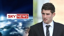 Sky logo and Ched Evans