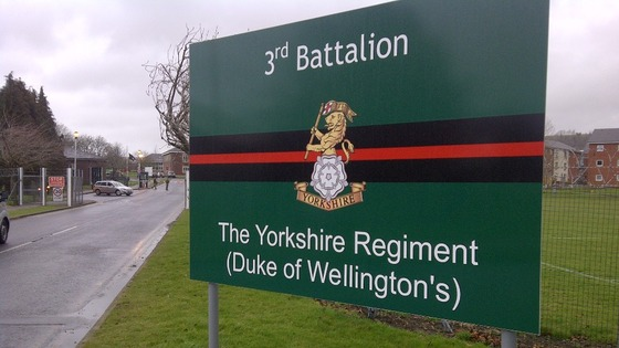 Photo of 3rd Battalion The Yorkshire Regt sign