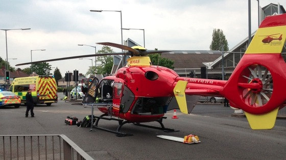 West Midlands Ambulance Service called to scene of crash on A38 Tyburn Road