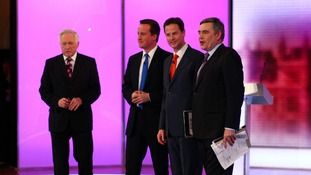 David Dimbleby, left, hosted the BBC leaders' debate.