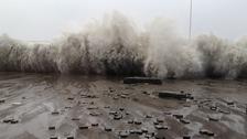 Aberystwyth debris