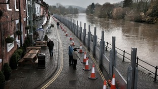 Flood defences in Bewdley, Worcestershire