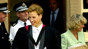 Prince William as a student at St Andrews University in 2005