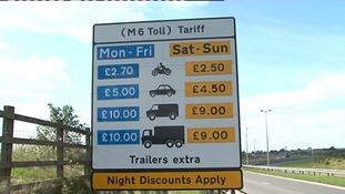 M6 Toll prices make losses of £41 million