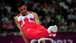 Louis Smith won individual sliver on the pommel horse at London 2012.