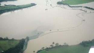 New aerial photos show scale of flooding in Arun valley