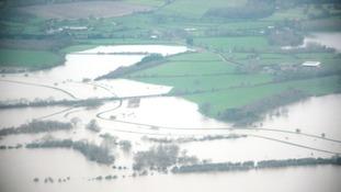 Flooded fields in Arun Valley