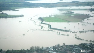 Farmland under water in Arun Valley