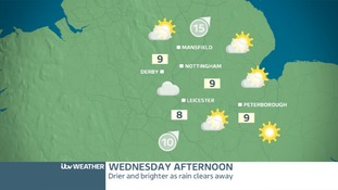WEDNESDAY EAST MIDLANDS - Dry afternoon