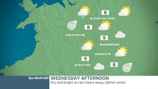 WEDNESDAY WEST MIDLANDS - Sunny spells in the afternoon