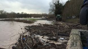 Clean-up efforts at the River Teme in Worcester