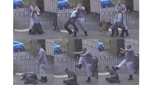 David Rooke shown in CCTV images with Craig Kinsella.