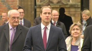 The student prince - William arrives in Cambridge to start his new farming course