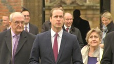Prince William arrives this morning.