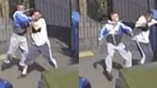 CCTV footage shows Craig Kinsella being thrown about.
