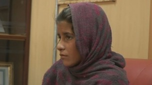 The 10-year-old Afghan girl.