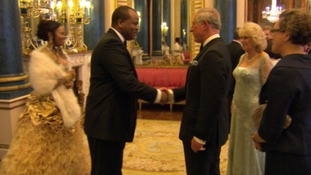 Prince Charles welcomes King Mswati of Swaziland