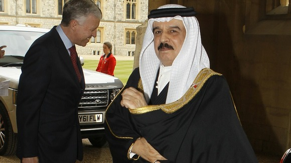 Bahrain's King Hamed bin Isa Al Khalifa arrives at Windsor Castle