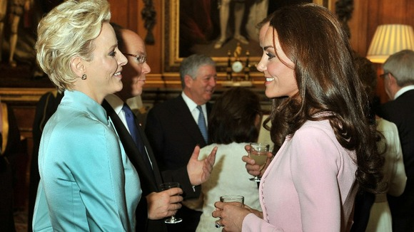 The Duchess of Cambridge talks Charlene, Princess of Monaco