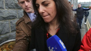 Jennifer Lauren leaving Ennis District Court where she was fined 2,000 euros