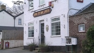 The Pear Tree pub in Hildersham near Cambridge