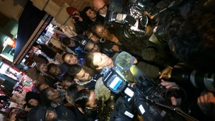 Mark Duggan's aunt Carole Duggan speaks to press in Tottenham.
